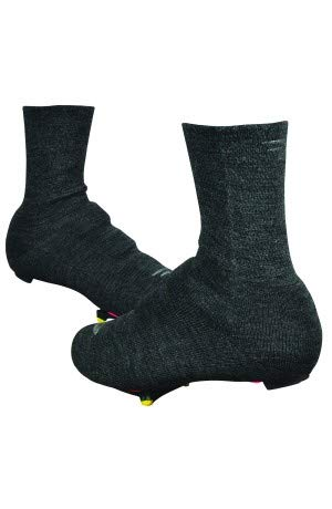 DEFEET SSSWOOL101 Slipstream Strada Double Cuff Socks, Small/Medium, Charcoal Wool