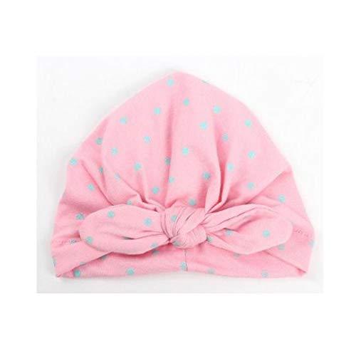 MingDe Sports Fashion Soft Cap Infant Boy Girl Polka Dot Bowknot Beanie Hat for 1-2 Years Baby Cute Black ()