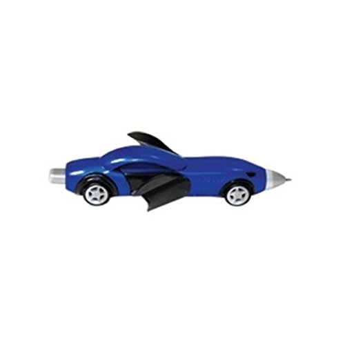 StealStreet SS-KD-007-BLUE, 5.75 Inch Racing Car Shaped Click Pen with Opening Doors, Blue, ()