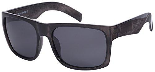 Edge I-Wear Men's Big and Tall Polarized Square Frame Sunglasses BG540987-P-4 (Grey, - I Wear Sunglasses