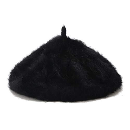Kolylong Winter Hat Women Wool Blend Beret Plain Colours Ladies Hat