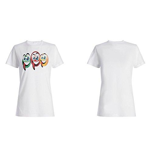 Neuer Lustiger Verrückter Glücklicher Kunstentwurf Damen T-shirt i553f