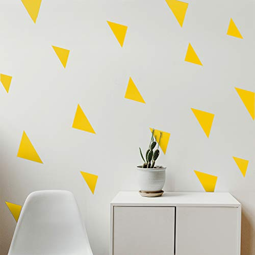 Set of 15 Vinyl Wall Art Decal - Solid Triangle Patterns - From 3