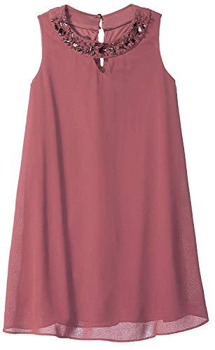 Amy Byer Girls' Big Shift Dress with Embellished Neckline (Mauve, -