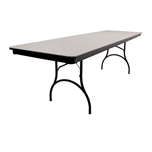 MityLite 30''x96'' Rectangular ABS Folding Table - Grey by MityLite