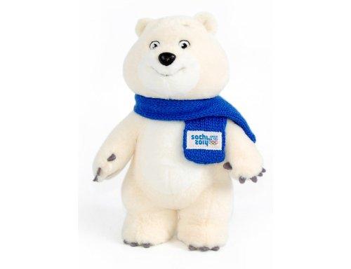Polar Bear Mascot Russia Sochi 2014 Winter Olympic Games 7.87in (20cm) by Sochi 2014