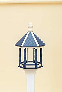 product image for DutchCrafters Poly Lumber Classic Hex Feeder (Navy Blue/Ivory)