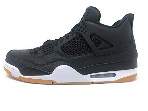 Nike Air Jordan 4 Retro SE Mens Basketball Trainers CI1184 Sneakers Shoes (UK 9.5 US 10.5 EU 44.5, Black White Gum (Best Jordan Kobe Shoes)