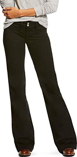 ARIAT Womens Twill Ella Wide Leg Trouser Jean 29 R Black