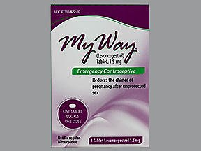 My Way Emergency Contraceptive 1 Tablet *Compare to Plan B One-Step* by Busuna
