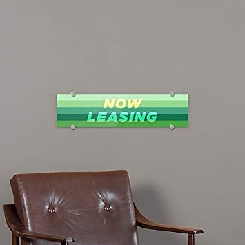 Now Leasing 5-Pack CGSignLab Modern Gradient Premium Brushed Aluminum Sign 24x6