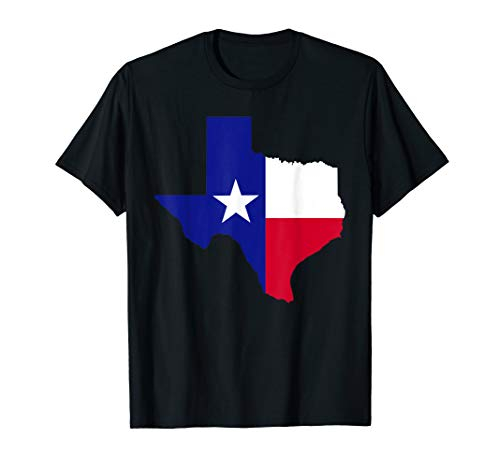 Texas map with flag T-Shirt ()