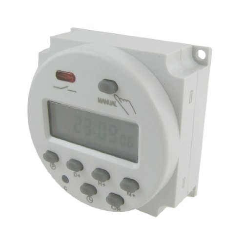 uxcell DC 12V Digital LCD Power Programmable Timer Time Switch Relay 10A (Dc Timer Switch)