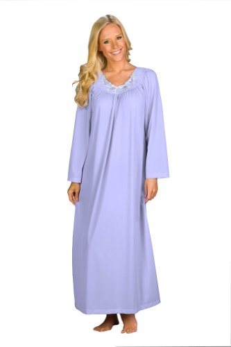 Shadowline Women's Petals 53 Inch Long Sleeve Long Gown