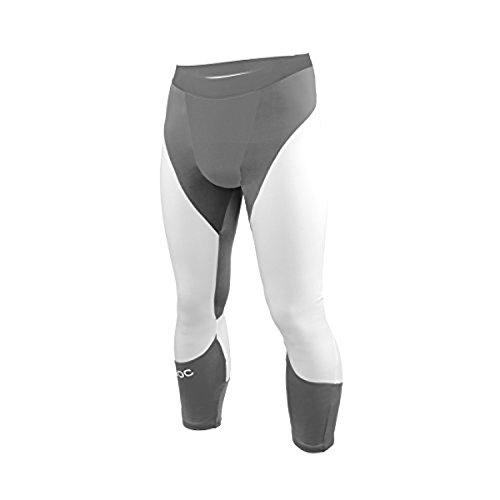 poc poc Layer Jr Cut Suit Bottom Steel Grey/Hydrogen White 14Y & Headband by POC