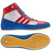 adidas HVC 2 Youth Laced Wrestling Shoes - Blue/Red/White - 3.5