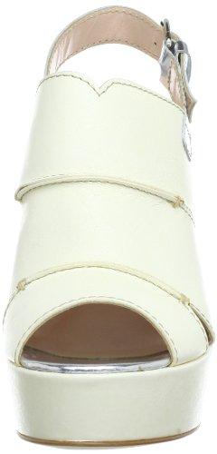 Objects in Mirror B842 - Plataformas de cuero para mujer Marfil (Elfenbein (Panna-Argento))