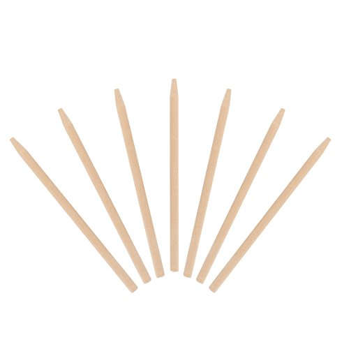 KingSeal Natural Birch Wood Candy Apple Skewers, 5.5 Inch, 6.5mm - Master Case of 5 Packs of 1000 per Pack by KingSeal