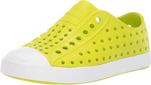 Native Kids Shoes Unisex Jefferson (Toddler/Little Kid) Glo Green/Shell White 7 M US Toddler from Native