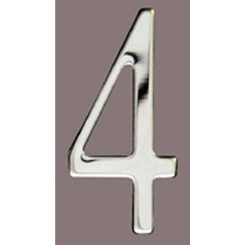 Special Lite Products SS2-Number 4 Stainless Steel Self Adhesive Address Number 4 4, 2''