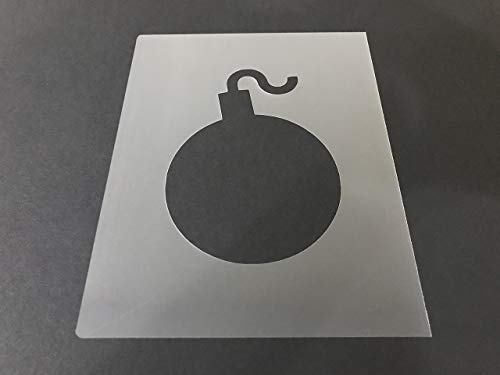 Bomb Stencil #2 Reusable 10 mil Thick 8in x 10.5in sheet