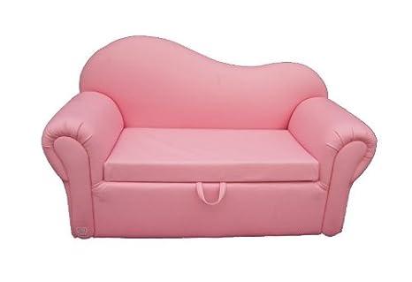 Amazon.com: 2 plazas Sofá con rosa para niños caja de ...
