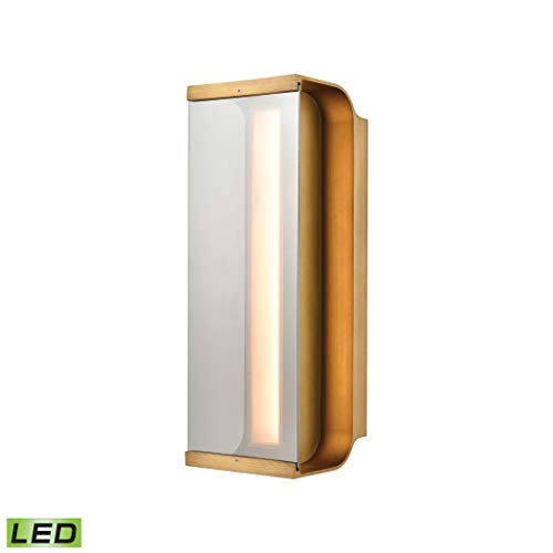 Forma 1-Light Sconce in Antique Bronze with Clear Glass