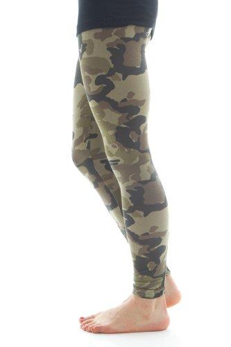 Zenana Women's Cotton Spandex Jersey Camouflage Leggings at Amazon ...