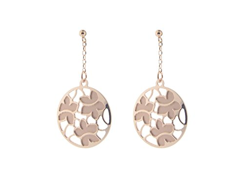 (Fronay Co Etruscan Rose Gold Flower Earrings in Sterling Silver)