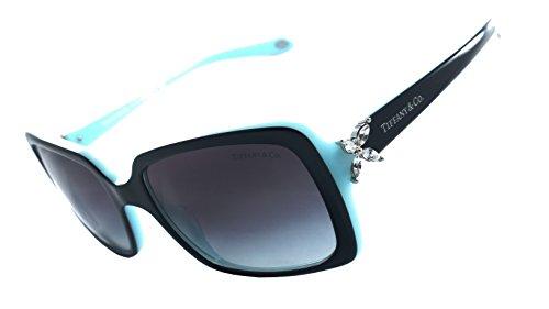 Tiffany & Co. Tf4047-b 100% Authentic Women's Sunglasses Top Black On Azure - Sunglasses Tiffany Sale