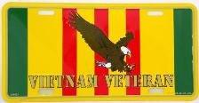 EagleEmblems Vietnam Veteran License Plate
