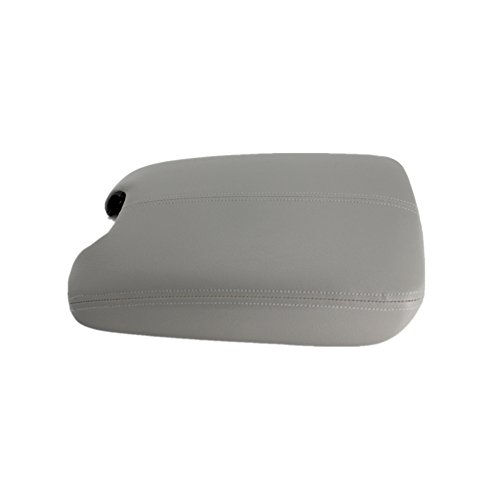 Replacement Parts Ezzy Auto Gray Leather Suture Console Armrest Lid