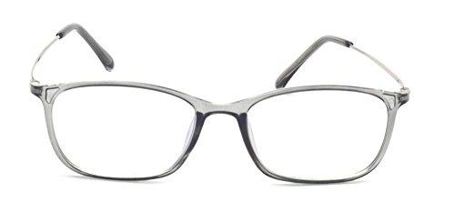 Outray Retro Rectangular Metal Frame Clear Lens Glasses Transparent Green
