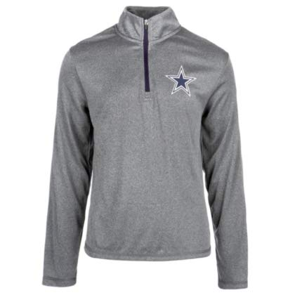 NFL Dallas Cowboys Youth Aries Quarter Zip, Gray, Large