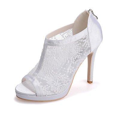 Peep EU36 Party Women'S Ivory Wedding Shoesstiletto Red Black Heel Sandals UK4 Evening CN36 amp;Amp; US6 Toe White ETcEq6yWH