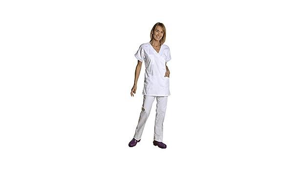 Holtex wbal07_94 - Vestido túnica para mujer (cuello en V, manga corta, talla 4), color blanco: Amazon.es: Industria, empresas y ciencia