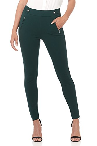 Rekucci Women's Secret Figure Pull-On Knit Skinny Pant (4,Hunter Green)