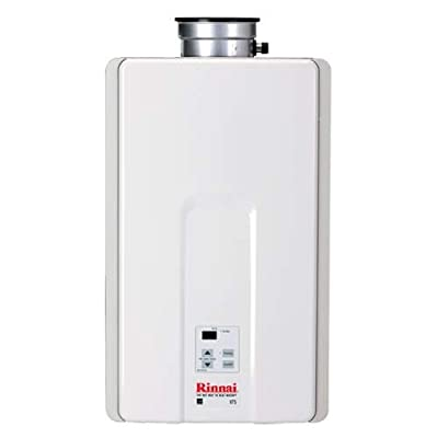 Rinnai V75IN 7.5 GPM Residential Indoor Natural Gas Tankless Water Heater with 1,