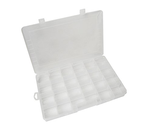 24 Compartment Grid Plastic Storage Container Box Bead Gem Diamond Stone Jewelry Making Organization Tool by PMC Supplies LLC