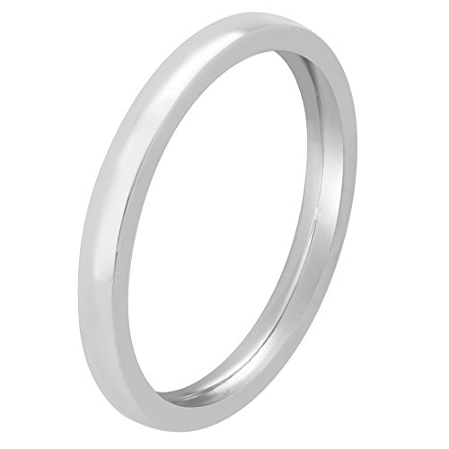 (Platinum Traditional Classic Men's Comfort Fit Wedding Band (2mm) Size-12.5c1)