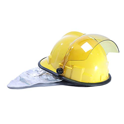 Hard Hat Fire Safety Helmet, Firemen 3C Certified Hard Hat Rescue Site Safety Helmet, Flame Retardant High Temperature Resistance Mask by Moolo (Image #5)