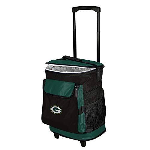 Logo Brands Green Bay Packers 48-Can Rolling Cooler with Wheels and Backpack Straps