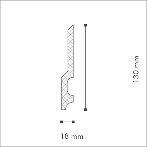 NMC Wallstyl Plinthe FD22 Polystyr/ène HD
