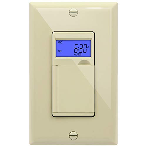 (Enerlites HET01 7 Days Digital In-Wall  Programmable Timer Switch with Blue Backlight,)
