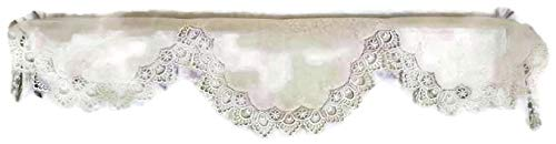 DoilyBoutique Fireplace Mantel Scarf in Antique (Winter) White European Lace, 90 inches Wide Handmade by DoilyBoutique