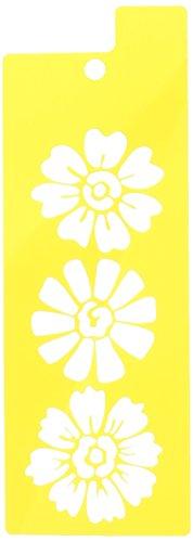 Flower Stencil (Delta Creative Stencil Mania Stencil, 3 by 8-1/2-Inch, 979320308 Flower Trio)