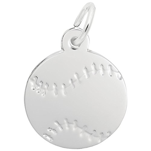 Rembrandt Charms, Baseball.925 Sterling Silver, Engravable
