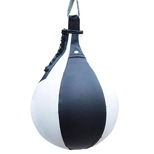 PU Leather Boxing Ball,Speed Ball Gym MMA Boxing Sports Pear Punch Bag,Wrecking Ball Heavy Bag,Hanging Swivel Workout…