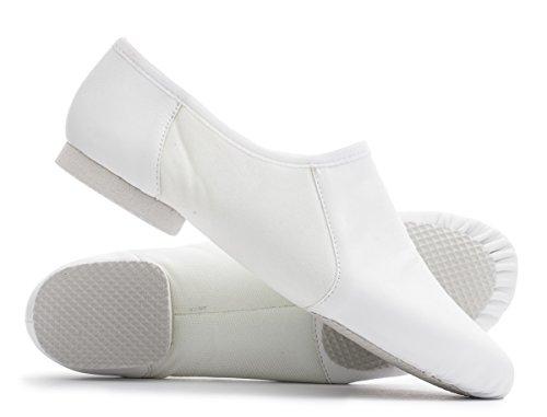 Practice Split Pull Dance PU Sizes On By Shoes All Dancewear Cerco Jive Sole Katz White Jazz Rubber Modern PIq0x55