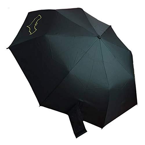 Batman Grappling Hook Umbrella | Solid Batman Logo Hook Handle | Easy Grip | Black -